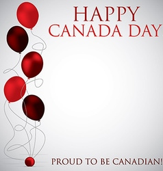 Balloon canada day card in format vector
