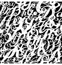 Calligraphy alphabet typeset lettering seamless vector