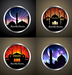 attractive set of festival eid background vector image