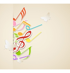 background notes vector image