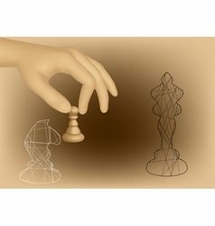 chess and hand vector image