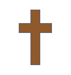 christian cross symbol vector image vector image