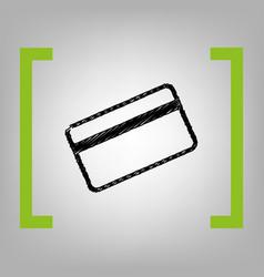 Credit card symbol for download black vector