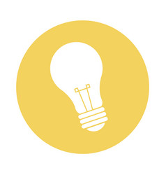 Electricity bulb light energy power icon vector