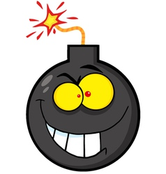 Evil Bomb Character vector image