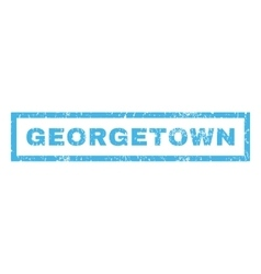 Georgetown Rubber Stamp vector image vector image