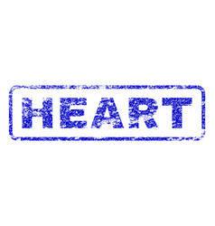 Heart rubber stamp vector