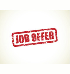 Job offer stamp vector
