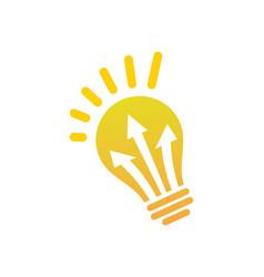 Lightbulb arrow electric logo vector