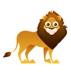 lion cute cartoon character vector image vector image