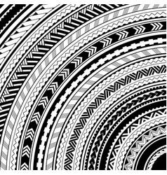 Maori style ethhnic ornaments vector
