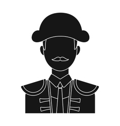 Matador icon in black style isolated on white vector