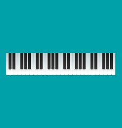 musical flat background piano key keyboard vector image vector image