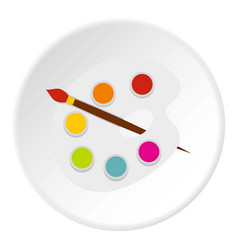 Palette icon circle vector