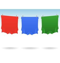Tshirts clothesline vector