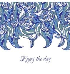 Wavy doodle card vector
