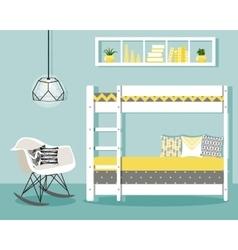 With baby bedroom vector