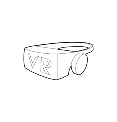 Virtual reality glasses icon outline style vector