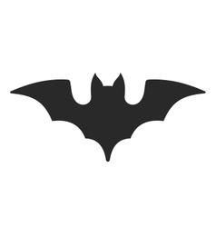Halloween bat icon on white background vector