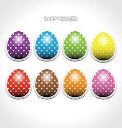 Easter egg stickers vector image