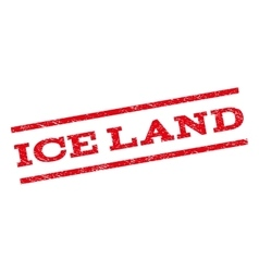 Ice land watermark stamp vector