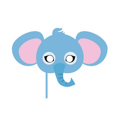Elephant carnival mask big animal with large ears vector