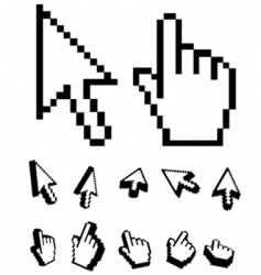 Digital cursor vector
