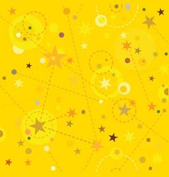 Golden stars seamless pattern swatch tile vector