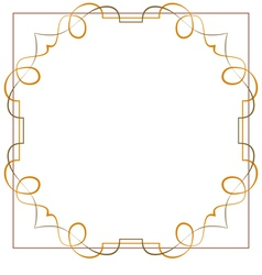 Vintage beautiful elegant frame element for design vector