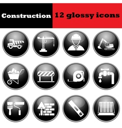 Set of construction glossy icons set of constructi vector