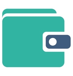 Wallet icon from business bicolor set vector