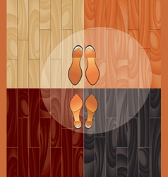 Parquet and shoes vector