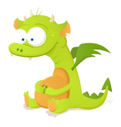 Cute dragon character vector