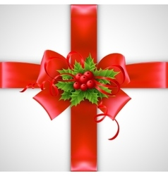 Christmas ribbon decoration vector image