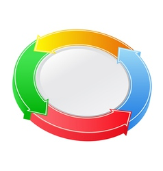 button with arrows vector image