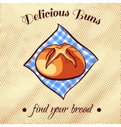 Bread on a napkin 3 vector