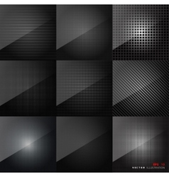 Carbon fiber texture abstract backgrounds set vector