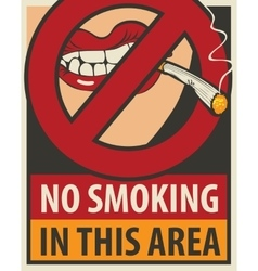 No smoking in this area vector