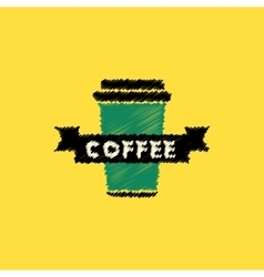 Flat icon design collection coffee to go vector