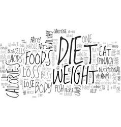 Adam waxler s top five diet foods text word cloud vector