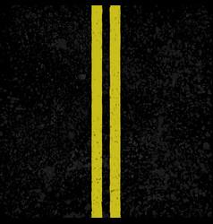 asphalt background with lines vector image