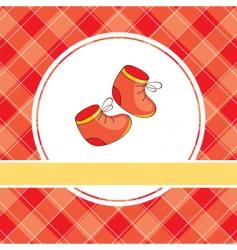 baby booties design vector image