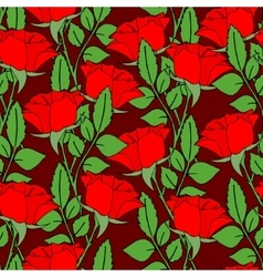 Background with roses vector image vector image