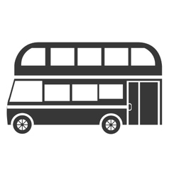 black british bus graphic vector image vector image