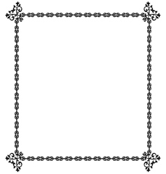 Black frame on a white vector image vector image