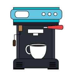 Coffee machine isolated icon vector