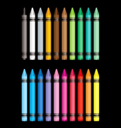 crayon collection vector image