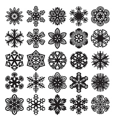 Decorative snowflakes icons vector image vector image