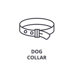 dog collar line icon outline sign linear symbol vector image vector image