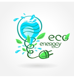 Eco energy water aqua alternative power vector